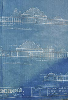 elevations from the 1961 blueprints by William Warner